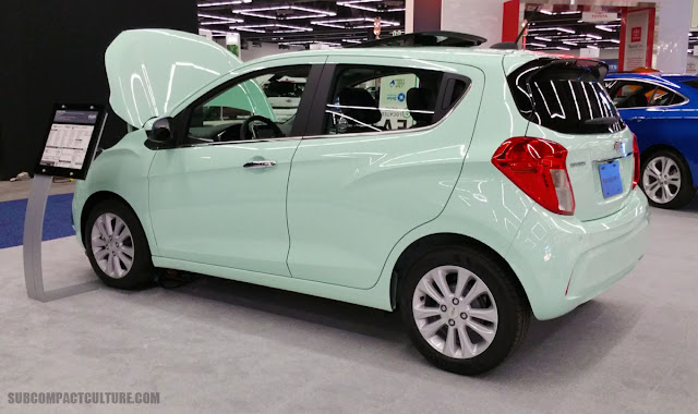 Mint-colored Chevrolet Spark - SUBCOMPACT CULTURE
