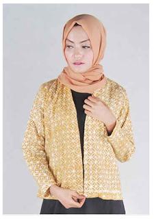 Model Baju Kantor Batik Muslim Remaja