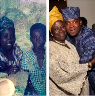 kunle afolayan and his mother