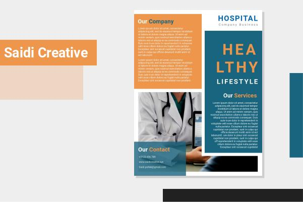 Hospital Flyer Template Free Download, Hospital Flyer Template Word Document Fully Editable