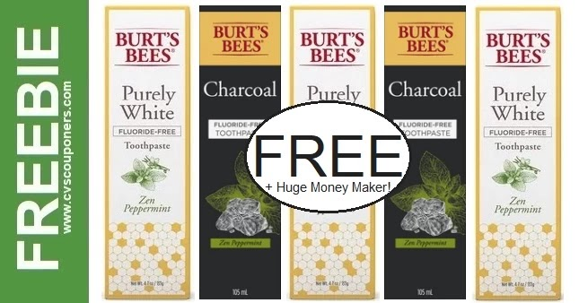 Free Burt's Bees Toothpaste CVS Deal 9-19-9-25