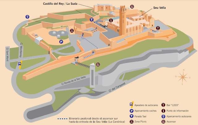 mapa de la Seu Vella de Lleida