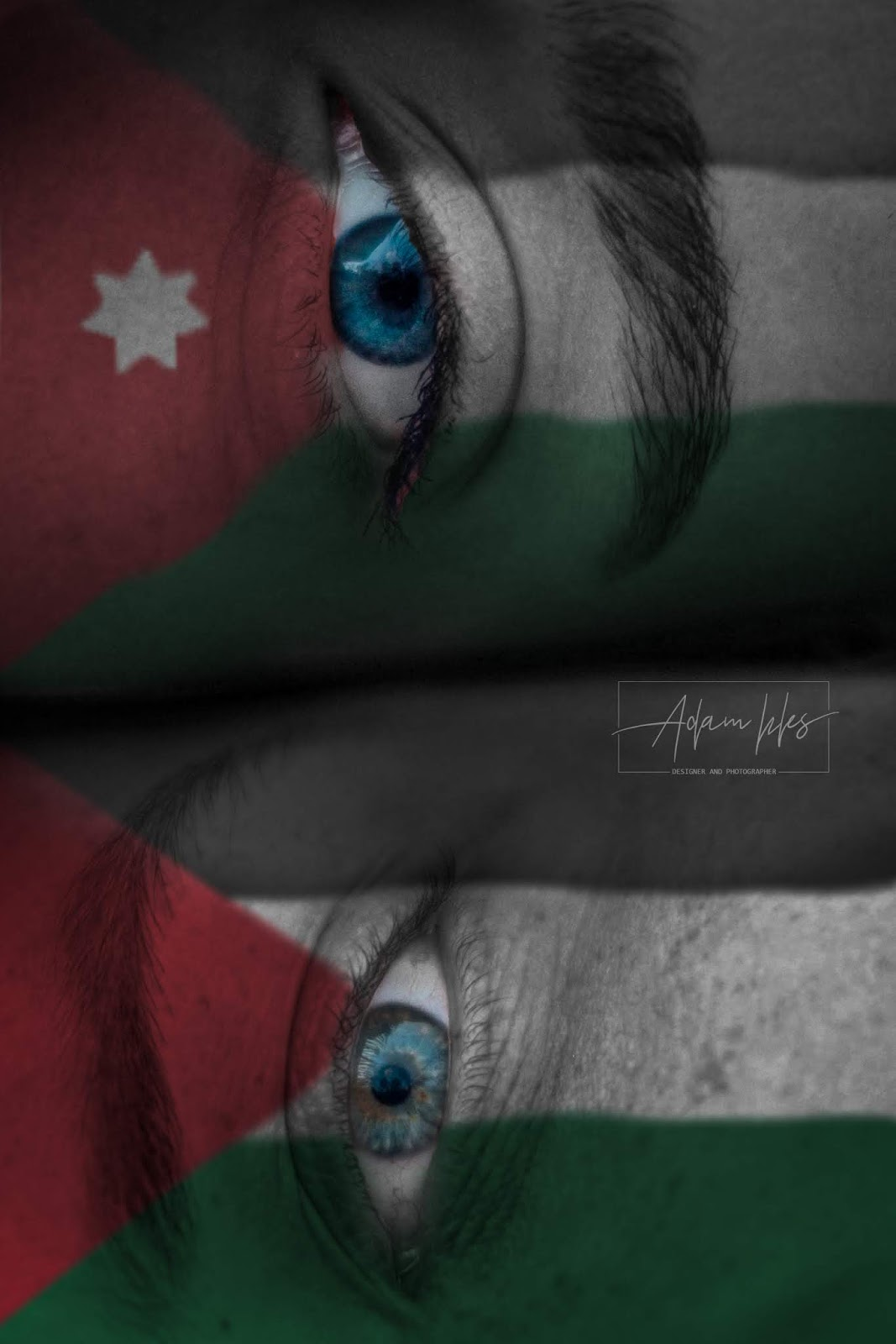 علم الأردن وعلم فلسطين