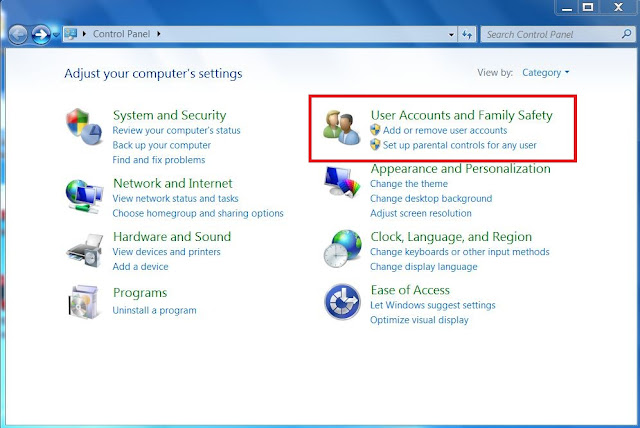 how to create account in windows 7