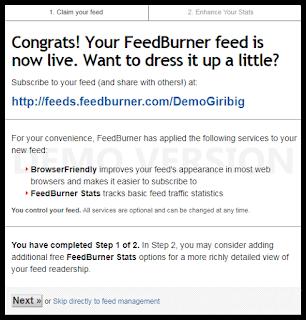 Cara Daftar dan Memasang FeedBurner Untuk RSS Blog Terbaru