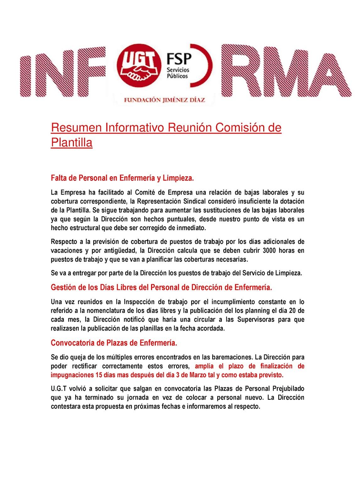 RESUMEN REUNION COMISION DE PLANTILLA