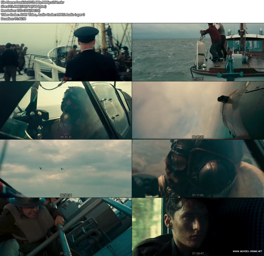 Dunkirk 2017 480p BRRip 300MB x264 Screenshot
