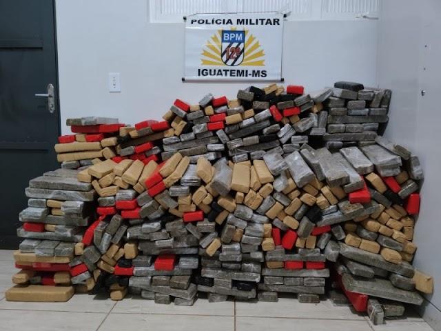 Iguatemi-Polícia Militar prende homem com quase 480 kg de maconha