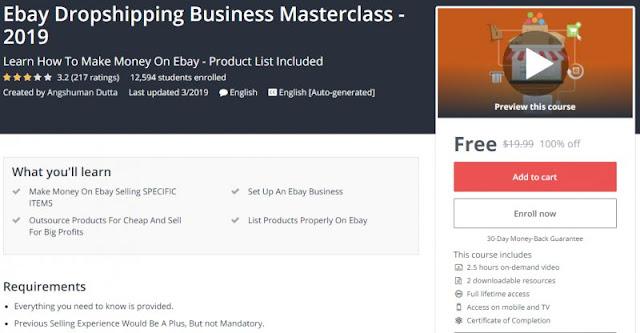 [100% Off] Ebay Dropshipping Business Masterclass - 2019| Worth 19,99$