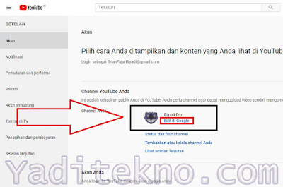 Cara Mengganti Nama Channel YouTube Lewat PC