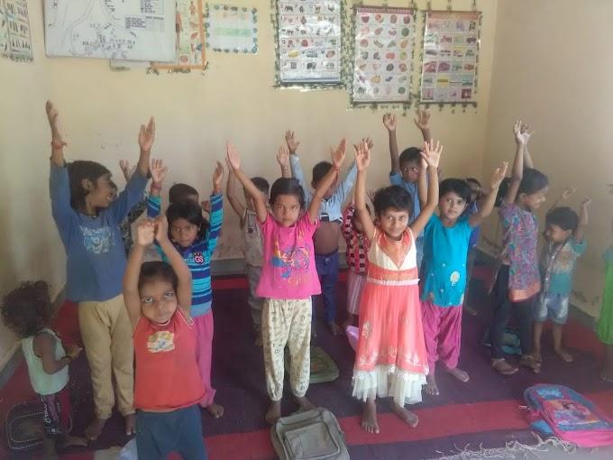 योगा का उत्साह है आंगनवाड़ी के बच्चों में