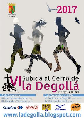 Cartel anunciador de la subida al Cerro De La Degollá 2017
