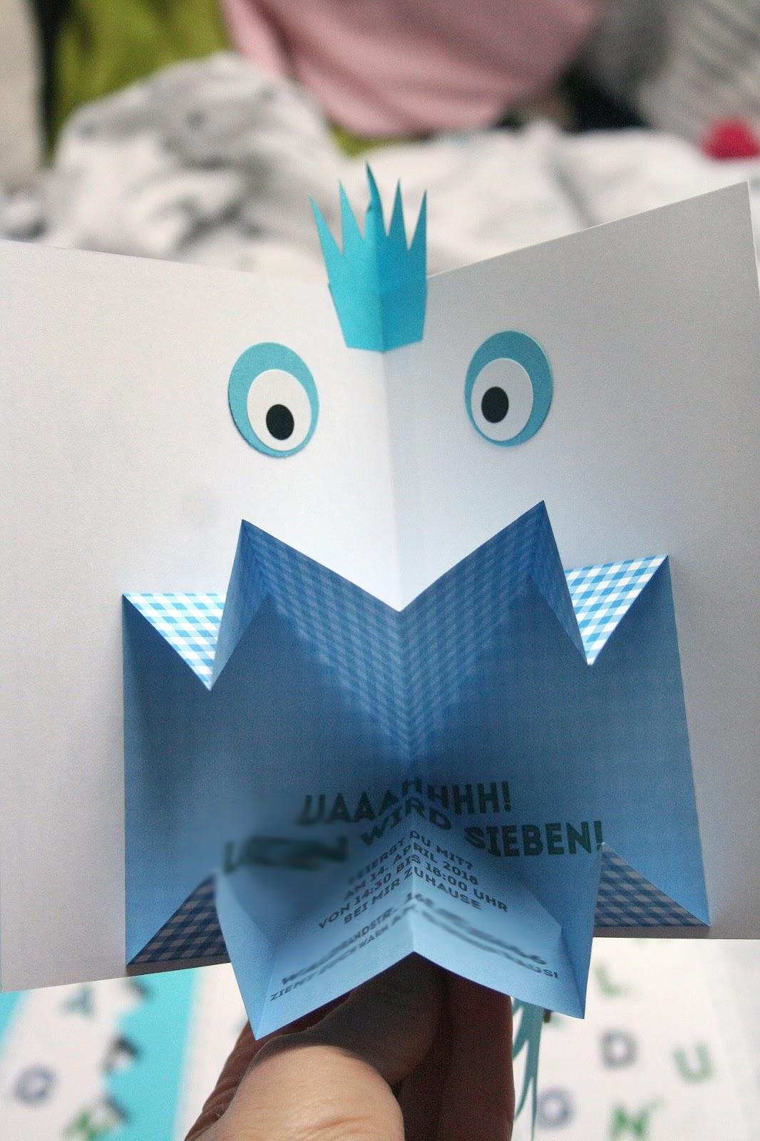 Die Monster Sind Los!   Einladung Zum Kindergeburtstag