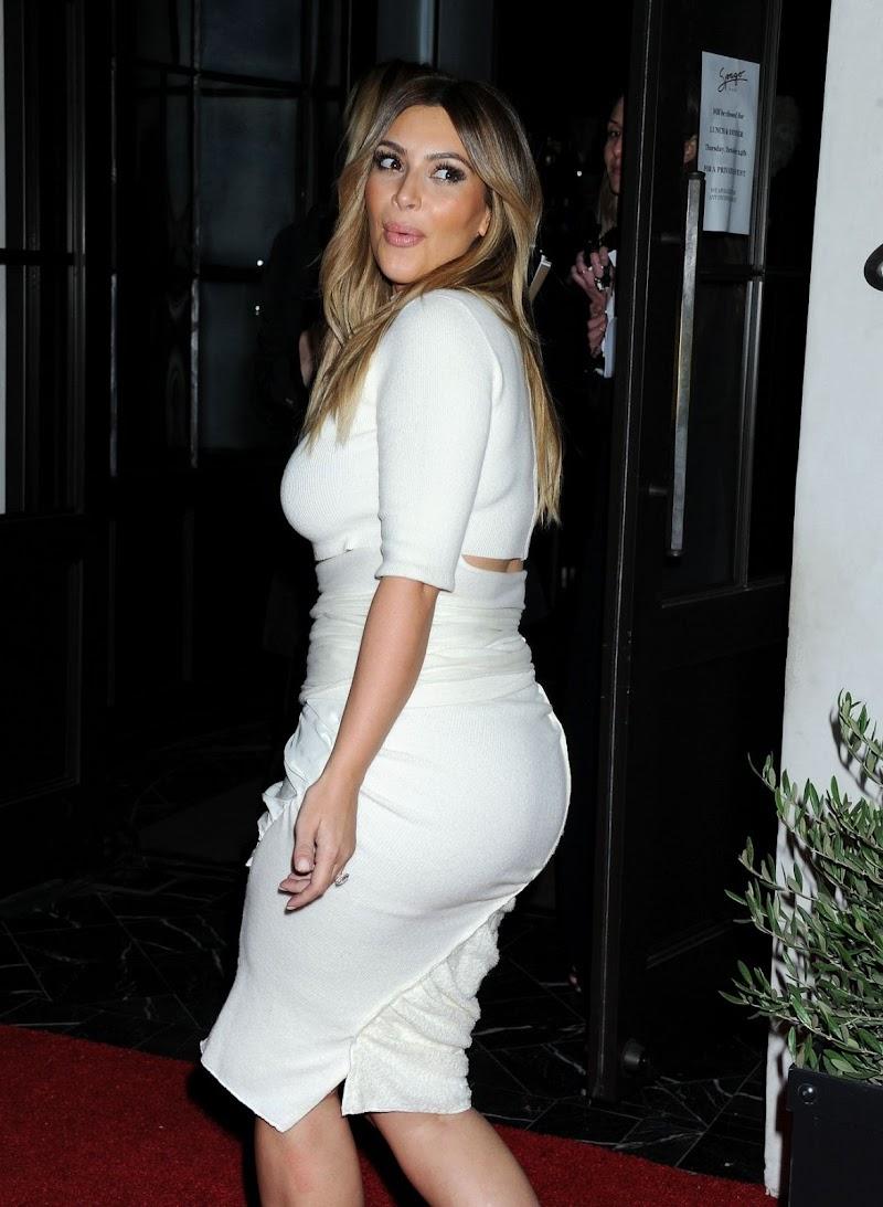 Gorgeous Kim Kardashian Clicked in White Dress