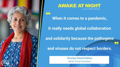 WHO Chief Scientist says we need a global approach photo of her smiling alongside quoted text