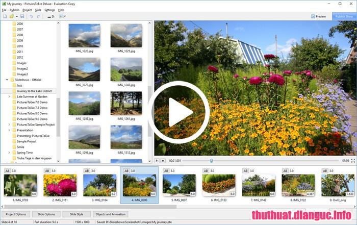 Download PicturesToExe Deluxe 9.0.19 Full Cr@ck – Trình chiếu ảnh làm video đơn giản