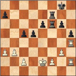 Partida de ajedrez Borao-Manchón, posición después de 30.T1h2