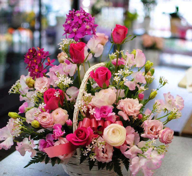 mix color rose mix flower wallpaper
