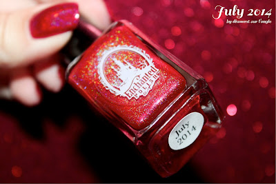 Comparative of Red Holographic Nail Polishes from Enchanted Polish