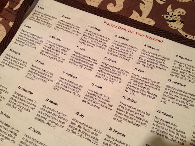 Ways Pray Husband Printable Calendar - imgUrl