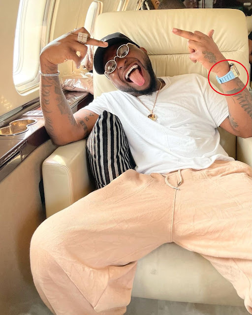 Check Out Davido's Watch That Is Reportedly Worth Over ₦42 Million (Photos)