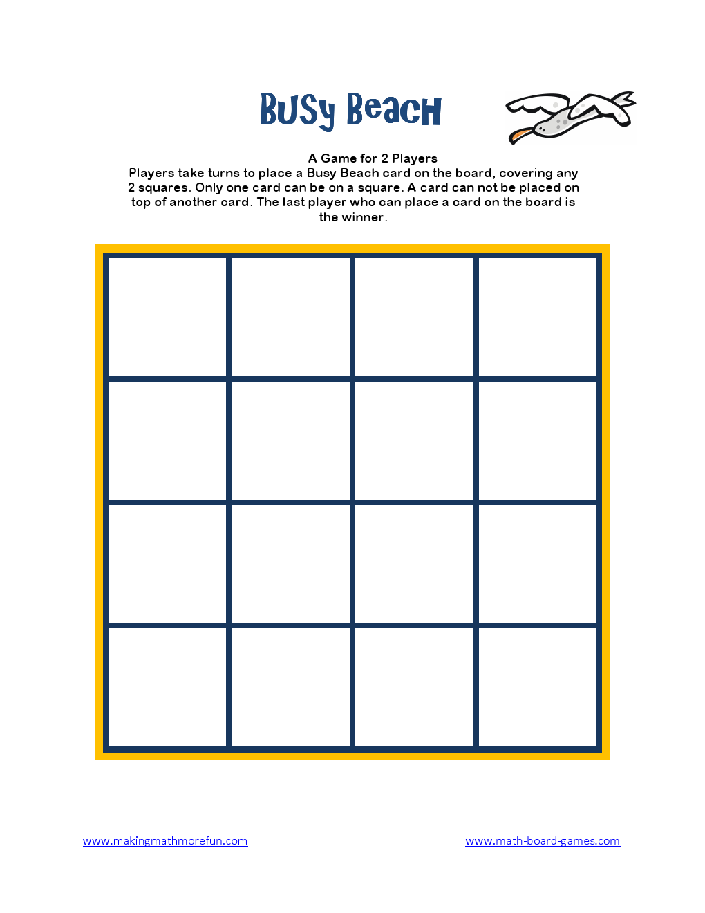 Fun Math Game Board Game for Kids Math Activities 2020 Free Printables