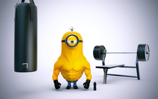 Funny Minions Body Workout HD Wallpapers