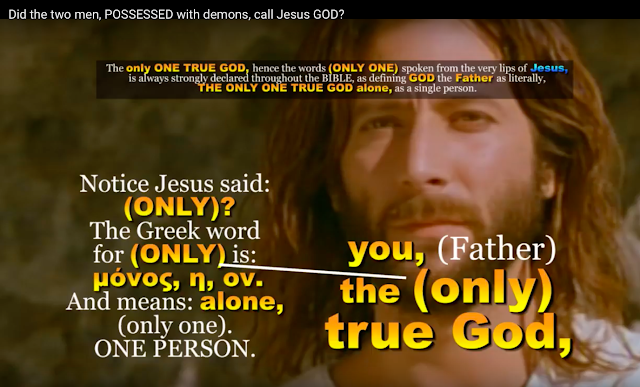 In John 17:3 Jesus said His Father is the only true GOD.