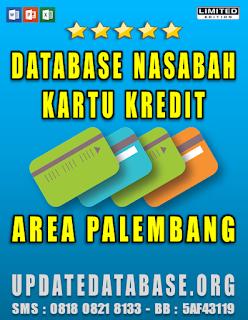 Jual Database Nasabah Kartu Kredit Palembang