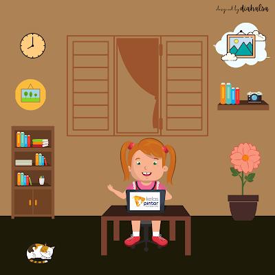 Belajar online dari rumah