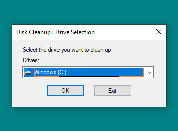 Memilih lokasi drive dari file yang akan dihapus