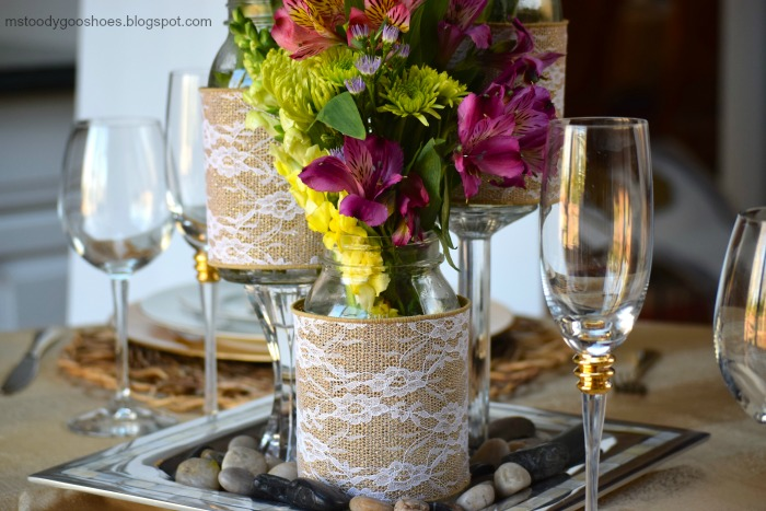 DIY Mason Jar Wedding Centerpieces - A Little Claireification