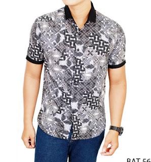 Model kemeja pria motif batik terbaru