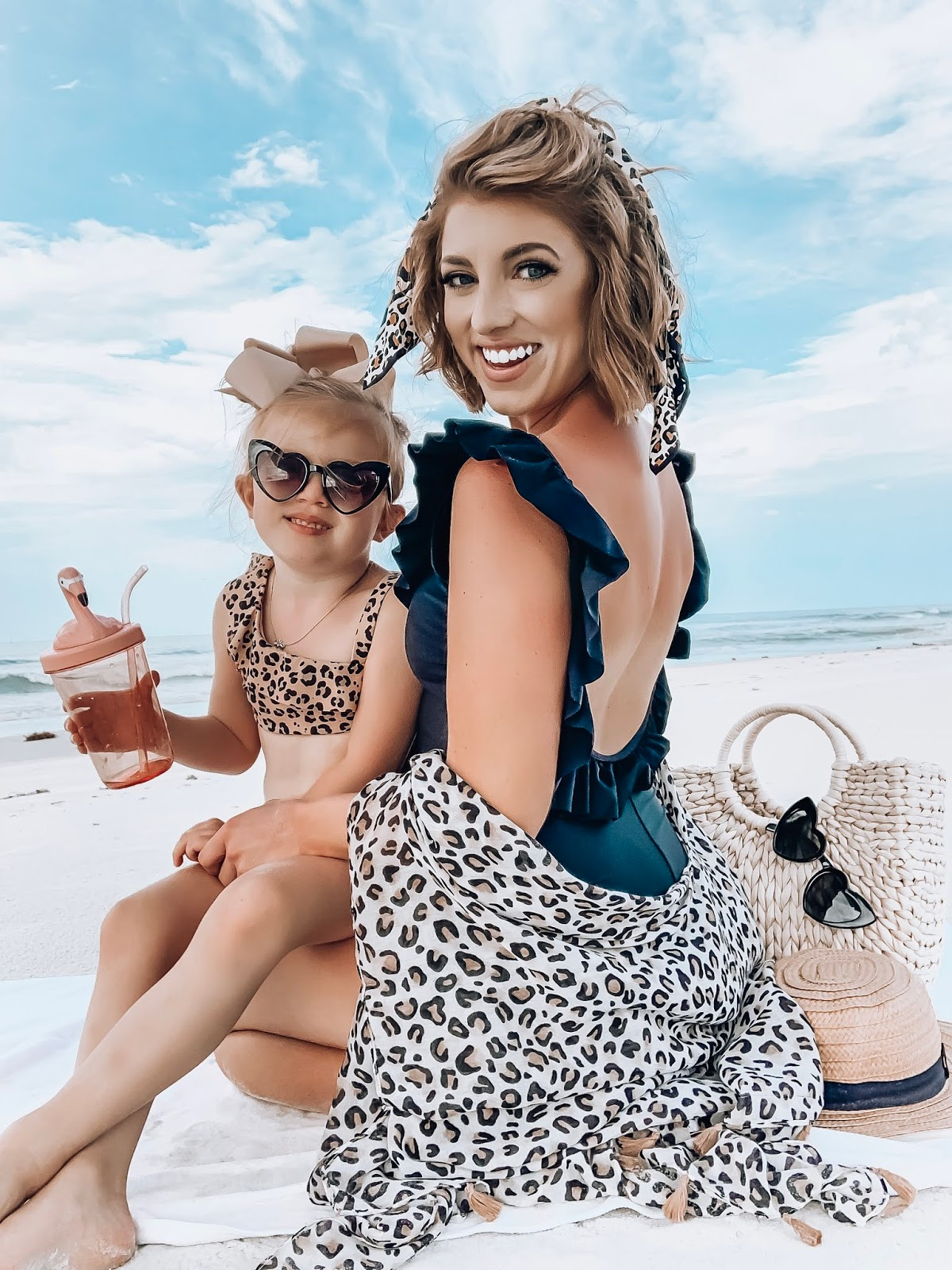 $40 Target Ruffle Back Swimsuit: Black + Leopard Print - Something Delightful Blog