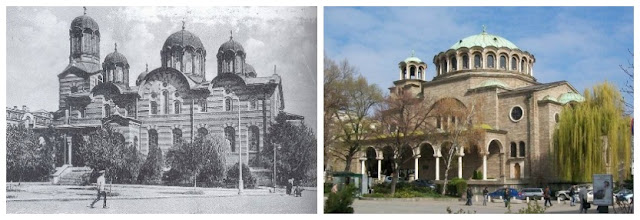 Svetá Nedelia, antes y depsués del atentado, Sofía, Bulgaria