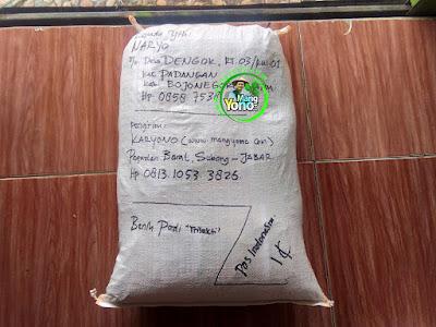 Benih pesanan  NARYO Bojonegoro, Jatim..  (Setelah Packing)