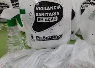 Vigilância Sanitária: Taxistas de Pilõezinhos recebem kits de prevenção à Covid-19