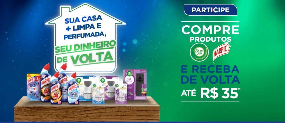 Promoção Harpic e Bom AR 2021 Sua Casa + Limpa e Perfumada