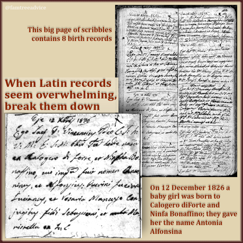 Talk about facing your fears. After a weekend of non-stop Latin church records, I have no problem translating these genealogy documents anymore!