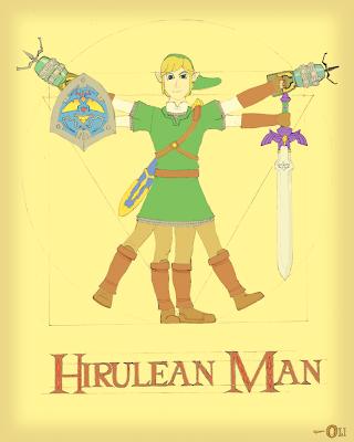 Hyrulean Man (Vitruvian Man) - journaljoseblogspot.com