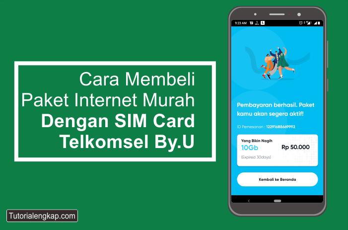 Tutorialengkap cara membeli paket internet murah kartu by.u dengan LinkAja