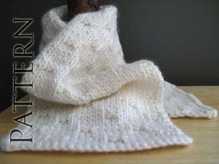 Yarn Obsession Free Pattern Sugar Cubes Knit Scarflette