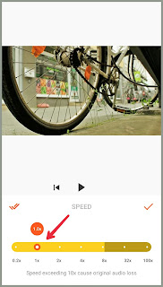 An option to adjust speed Tutorial edit Video YouCut   Android  2021