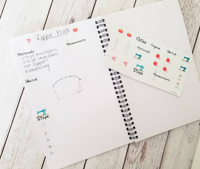 printable sewing stickers