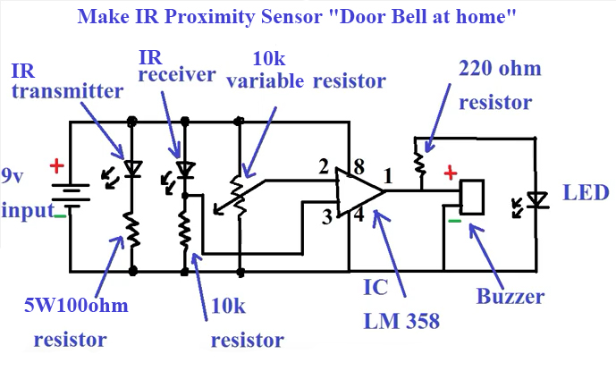 Infrared Proximity Sensor Wiring Diagram | Wiring Diagram Liries on infrared sensor circuit diagram, proximity sensor simple circuit diagram, ir sensor circuit diagram,