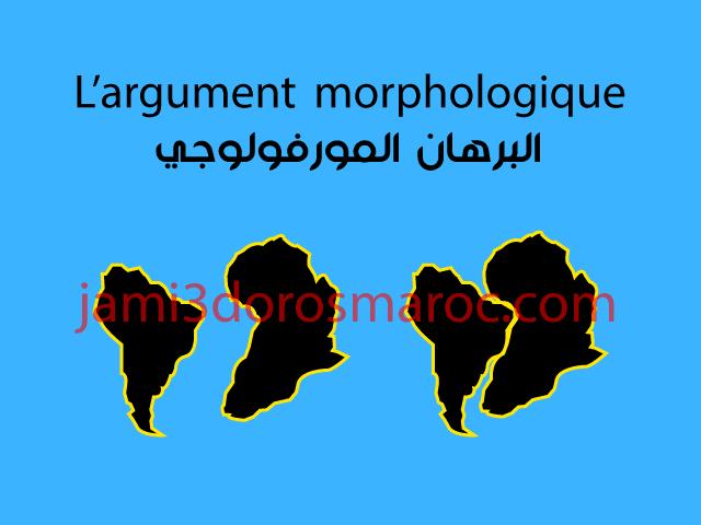 L'argument morphologique