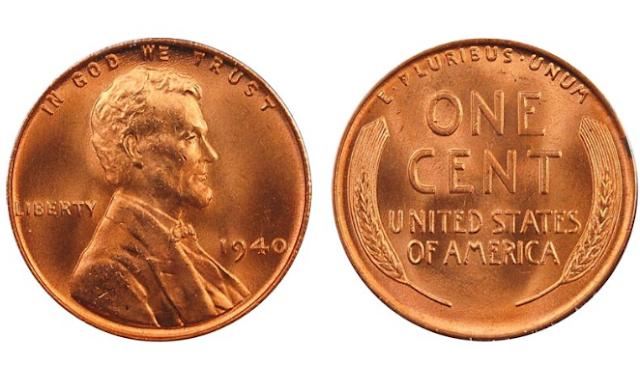 1940 wheat penny value