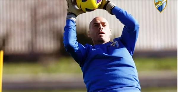"""Willy Caballero: """"Guardo la pelota de la Champions con la que jugamos con el Málaga"""""""
