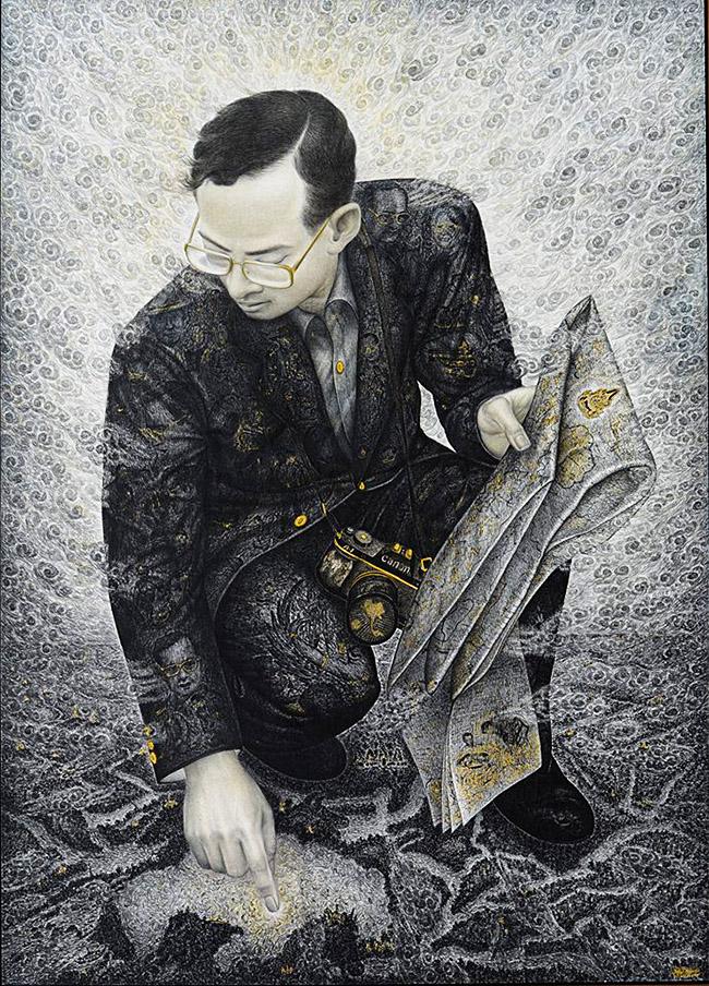 Likit Nisetanakarn ลิขิต-นิสีทนาการ - Thai King Rama IX art
