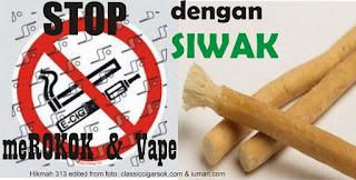 Stop Merokok dan Vape dengan Siwak